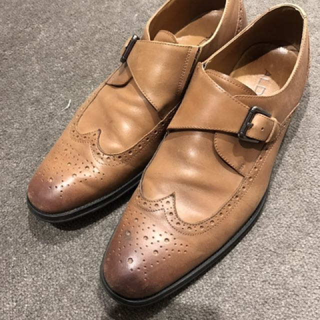 Aldo Brown Single Monk Strap Dress Shoes US 10
