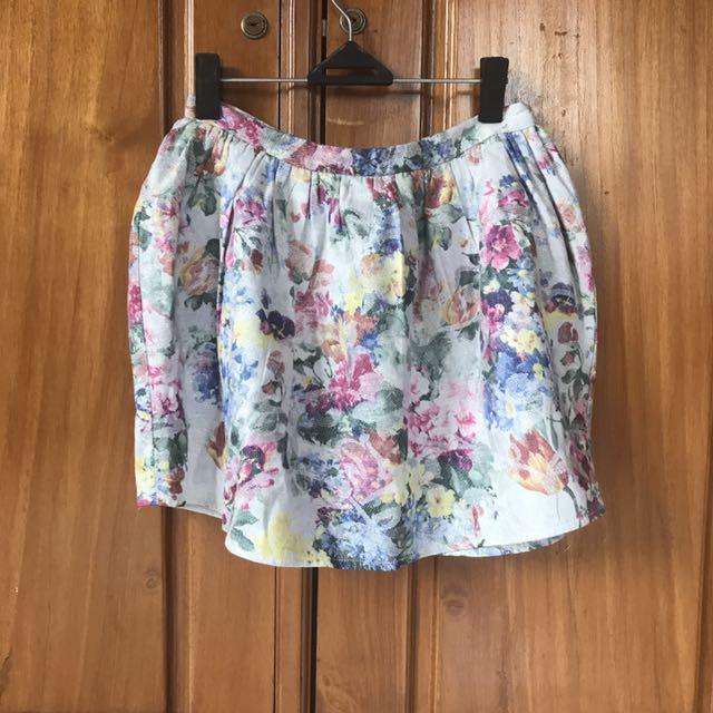 ASOS flower skirt
