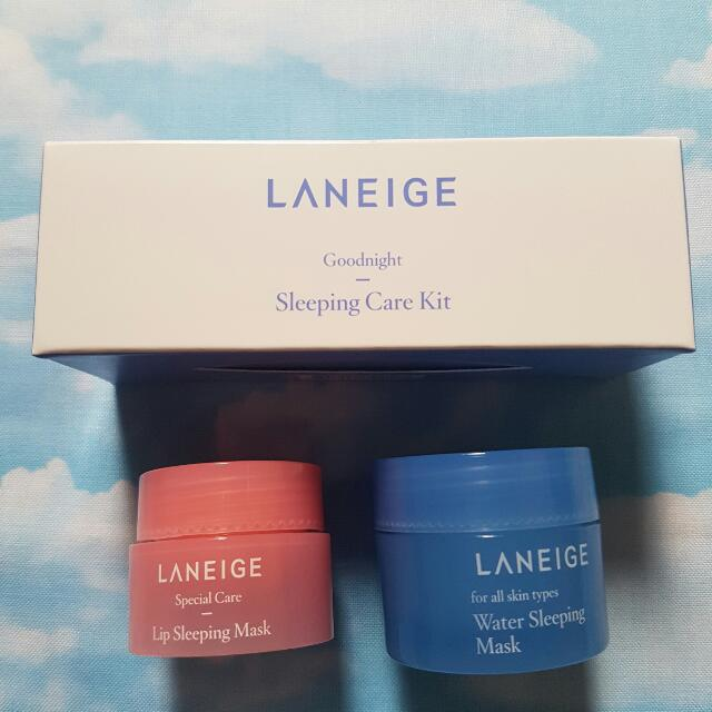 Auth LANEIGE lip And Mask Sleeping Kit
