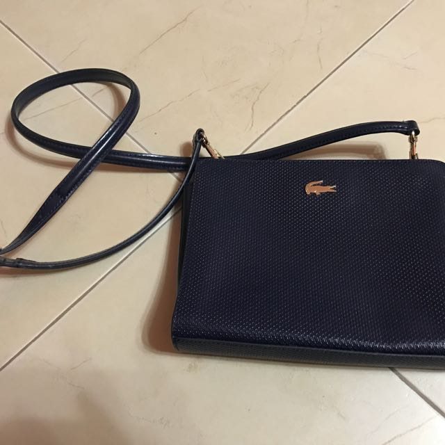 Authentic Lacoste Body Bag (blue)