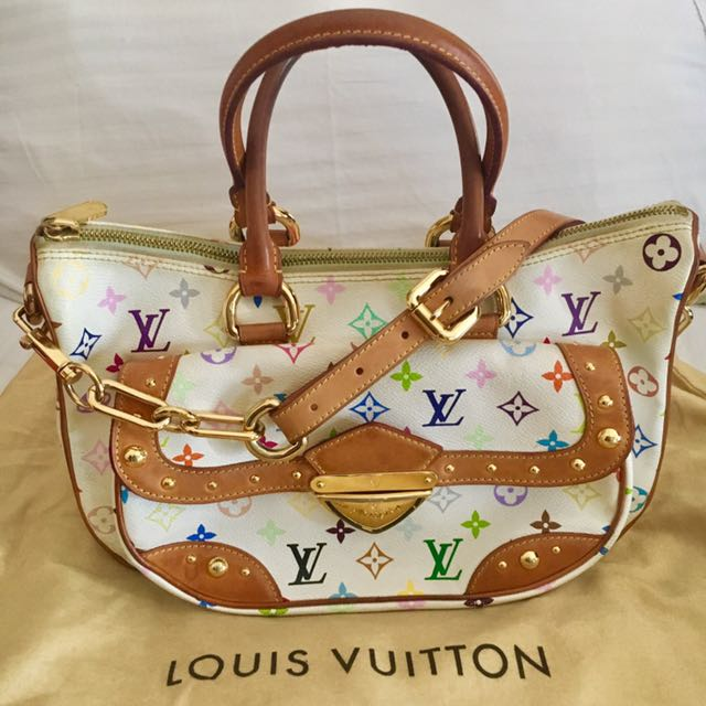 Authentic Louis Vuitton White Multicolor Rita