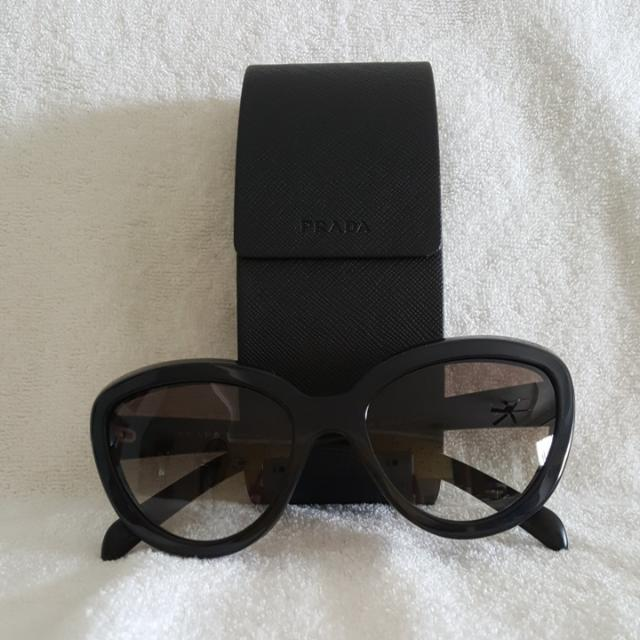 0ac45742c909 ... best price authentic prada black cat eye sunglasses womens fashion  accessories on carousell 3eeae a4c0f