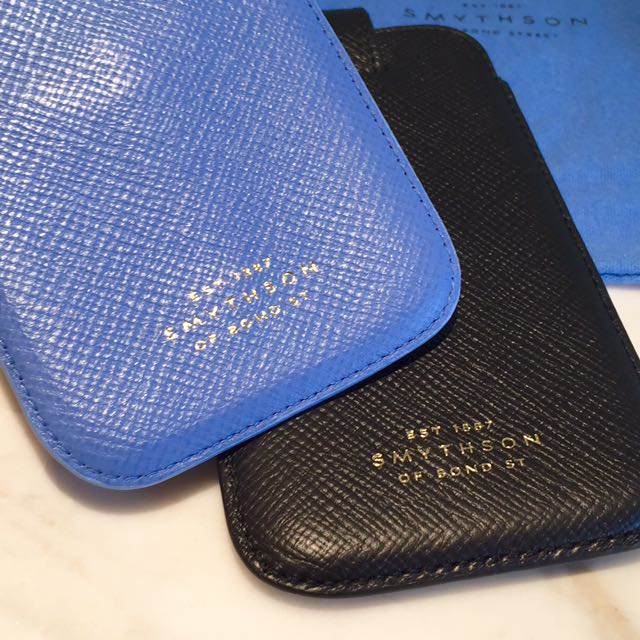super popular 2e8bb 9eb1a Authentic Smythson Bond St. London UK in PERFECT CONDITION - iPhone / card  case