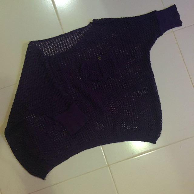 Baju Rajutan Purple