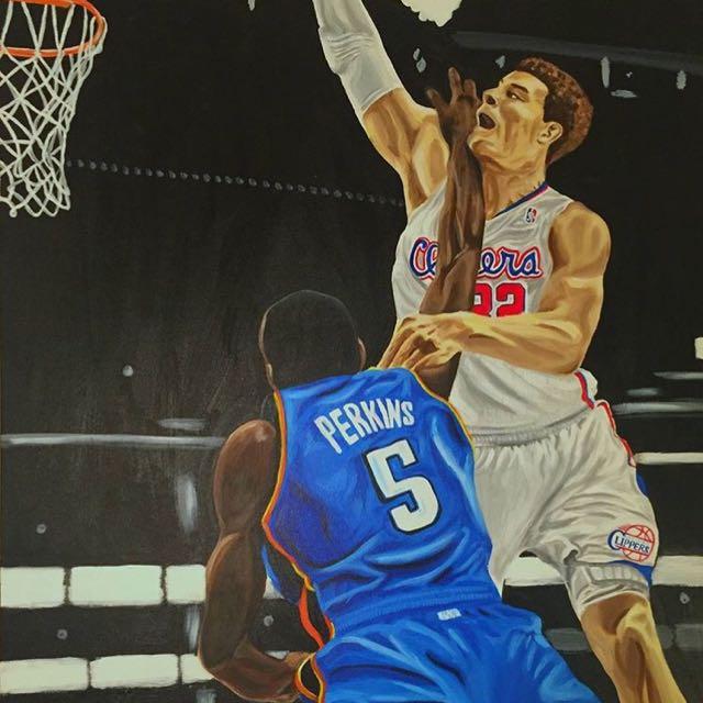 "Basketball Painting ""Slam"""