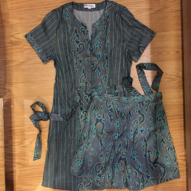 batik keris dress celana