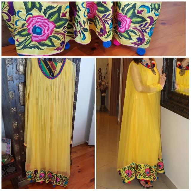 Beautiful Yellow Long Indian/Pakistani Dress