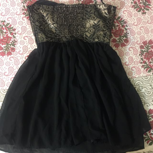 Black And Gold Top/Dress