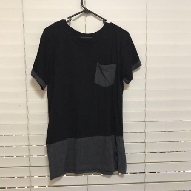 Black And Grey Block T-Shirt