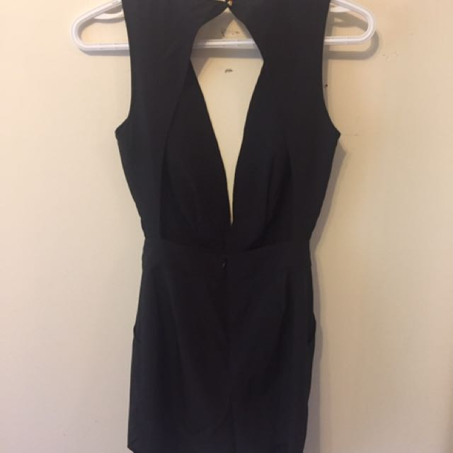 Black Backless Romper from Tobi