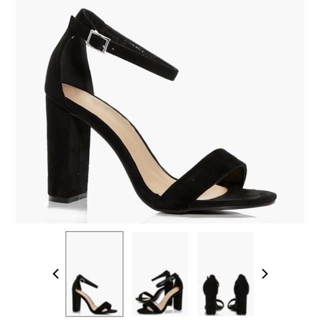 Black 'block' high heels