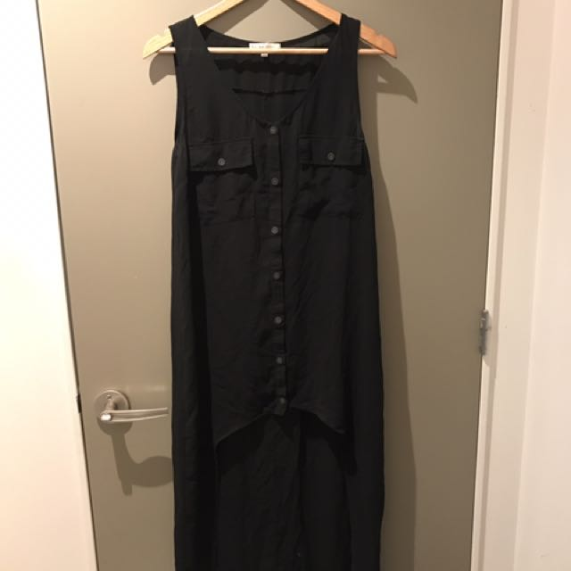 Black Chiffon Mullet Dress