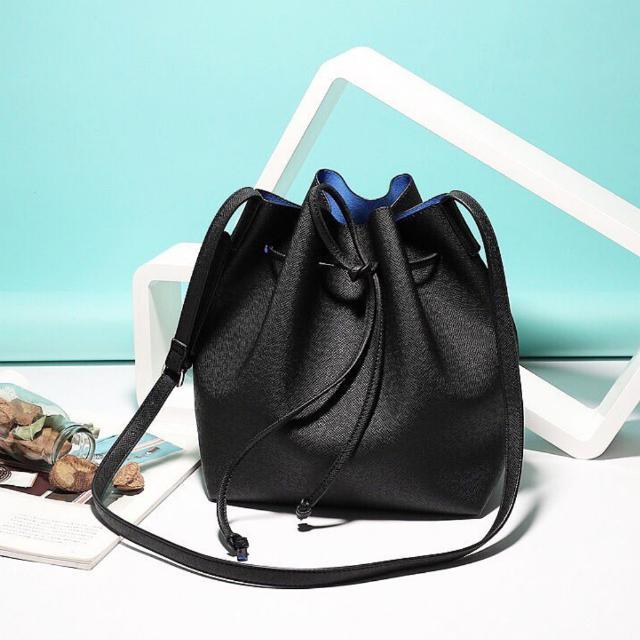 Black Hazel Bucket Bag