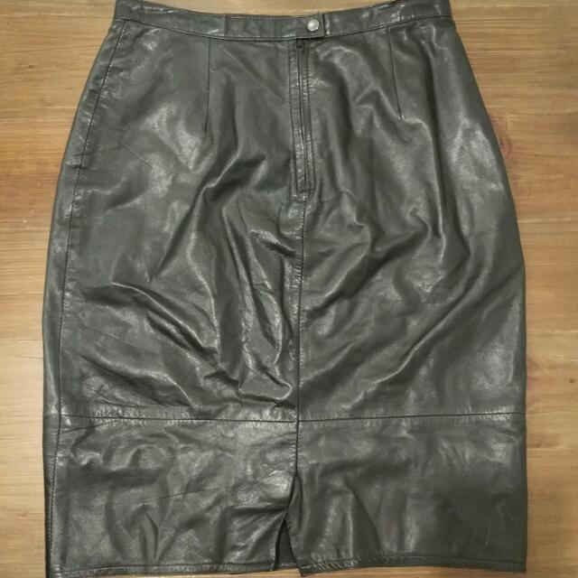 Black Leather Skirt Size 12