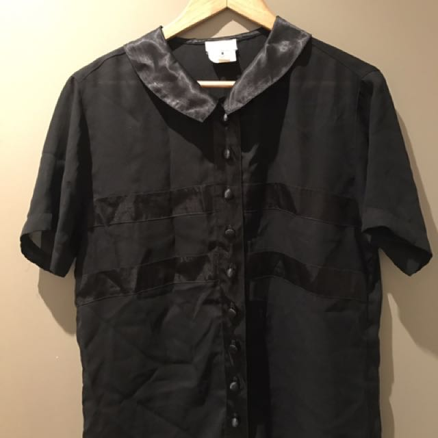 Black Tee Blouse