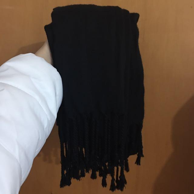 Black Thin Scarf