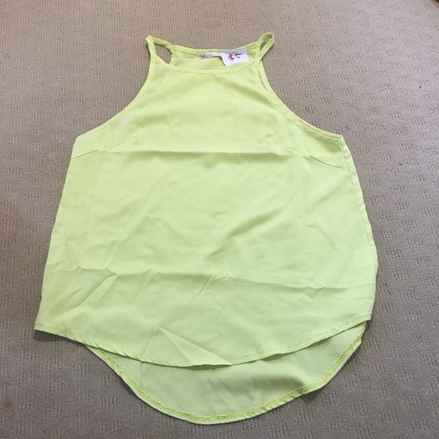 Blossom Pale Green Size 10 Racerback Top