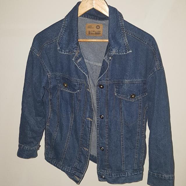 Blue Denim Oversized Jacket