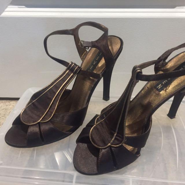 Brown & Gold Sandals
