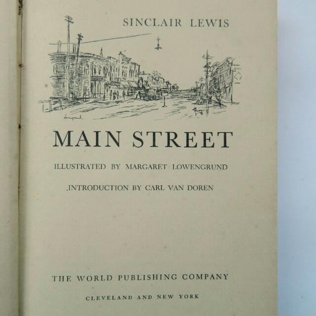 Buku Sastra inggris - Main Street By Sinclair Lewis