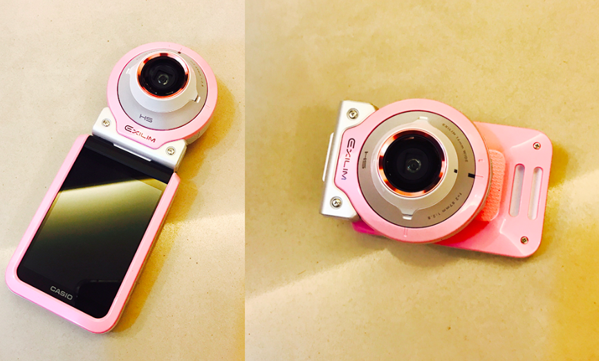 CASIO EX-FR100L長腿美顏分體式自拍機 粉色/白色