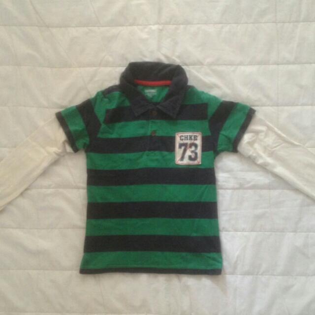 CHEROKEE Stripes Polo Shirt
