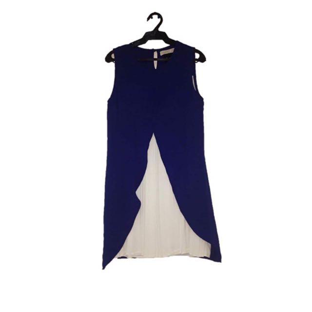 CLN White/Blue Dress