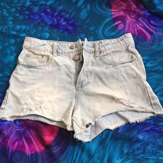 Denim High Wasited Shorts