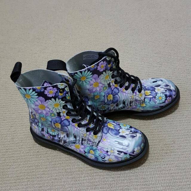 Doc Martens Flora Print Boots