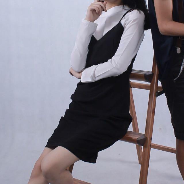 dress black and white by berrybenka