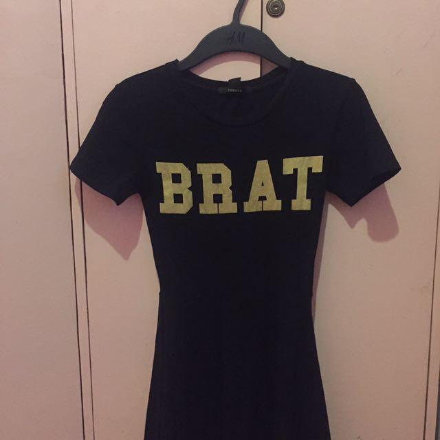 F21 Black Brat Dress