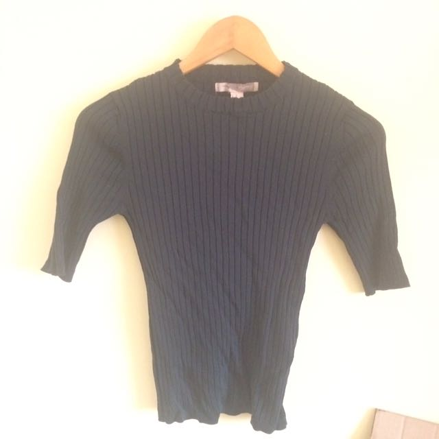 F21 CONTEMPORARY RIBBED STRETCHY TOP