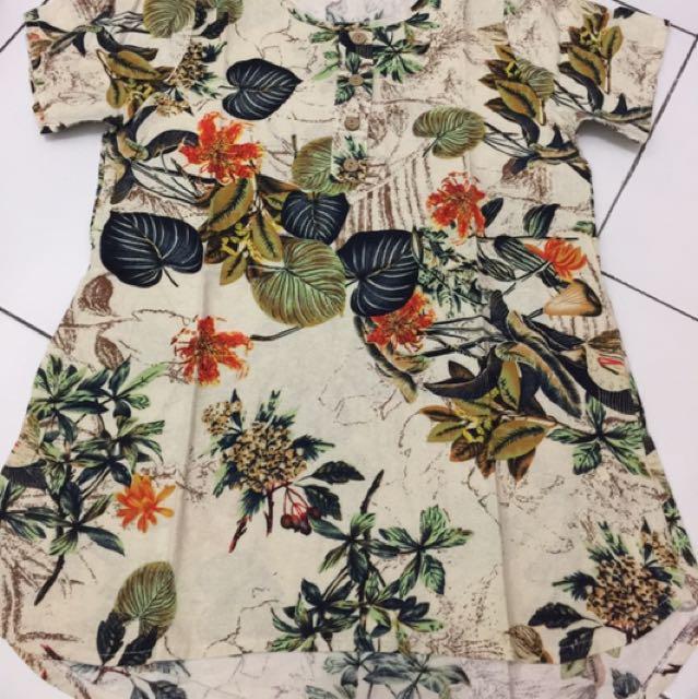 Flower Blouse/Baju / Kemeja / Celana / Sepatu #ClearanceSale