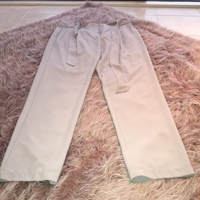 Forecast - High Waisted Tie Up Pants