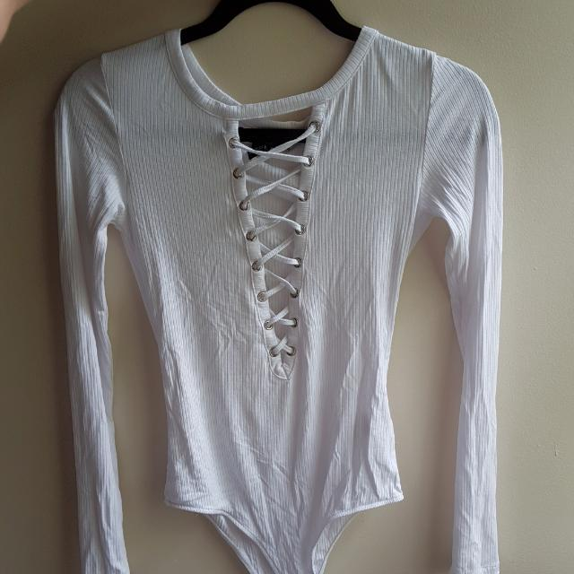 Forever 21 Laced Up Body Suit