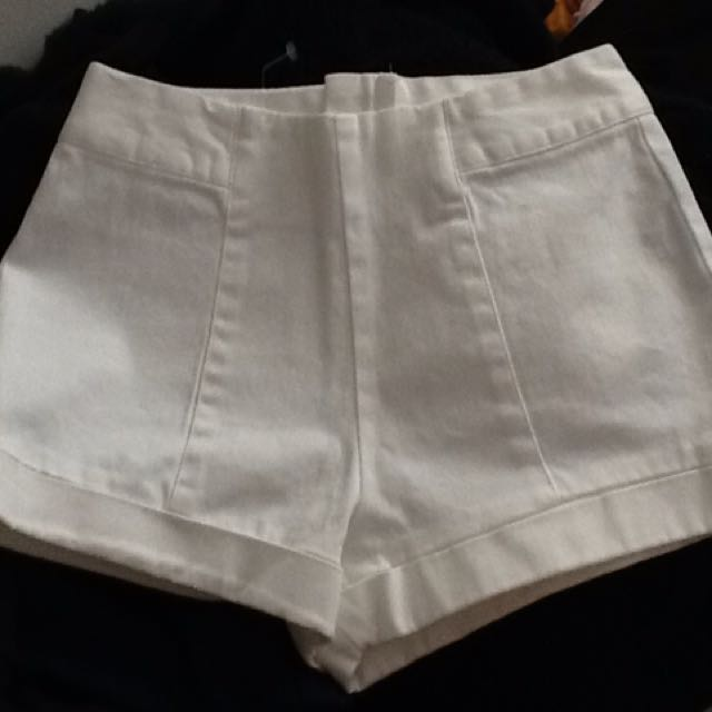 Forever 21 White High Waisted Short With Tags