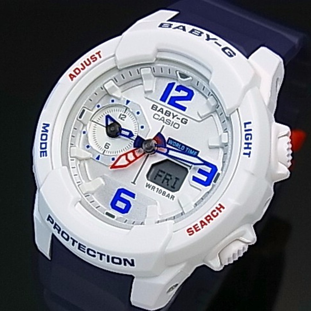 7091a9b2be FREE DELIVERY Brand New Gshock Casio BABYG BABY-G White Blue Red Ladies  Girls Watch From Casio 100% Authentic