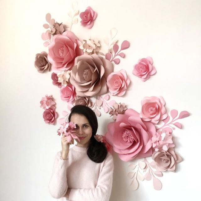 Giant Paper Flower, Design & Craft, Handmade Craft on Carousell