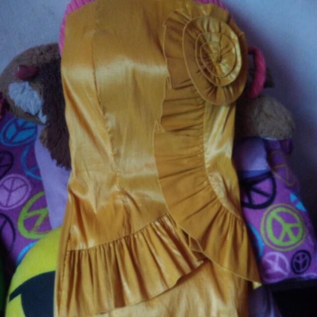 Gold Tube Formal Dress
