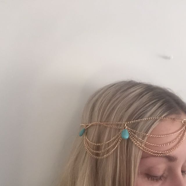 Gold/Turquoise Headpiece