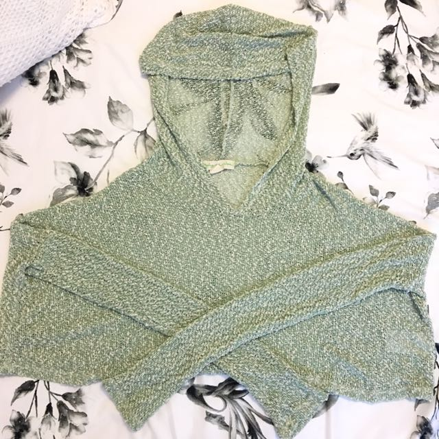 Green Urban Outfitters Cropped Sweater