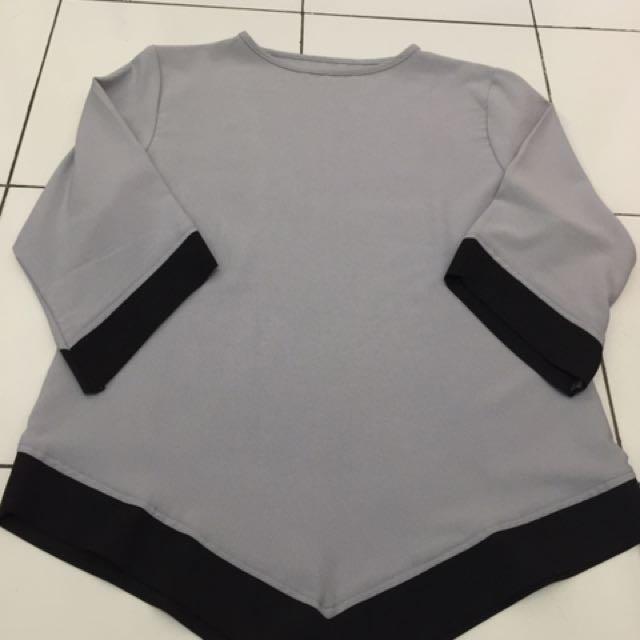 Grey Blouse/Baju / Kemeja / Celana / Sepatu #ClearanceSale