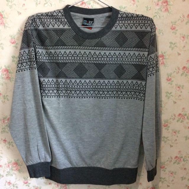 Grey Tribal Sweater Sz M-L