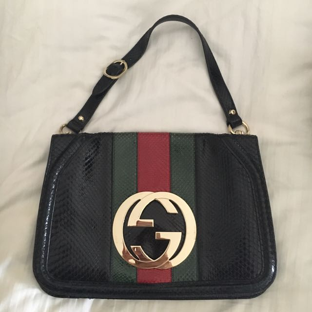 Gucci snake Skin Limited Edition Bag Pre Loved