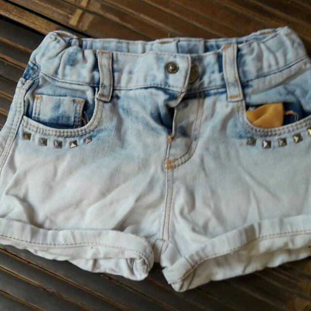 Hotpants Studed Zara 12-18 Month