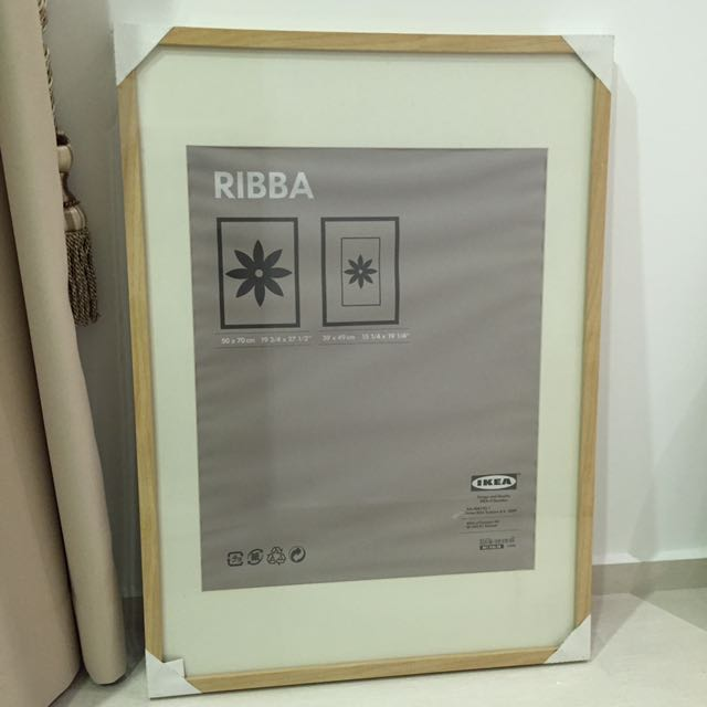 ikea ribba frame 50x70 furniture home decor on carousell