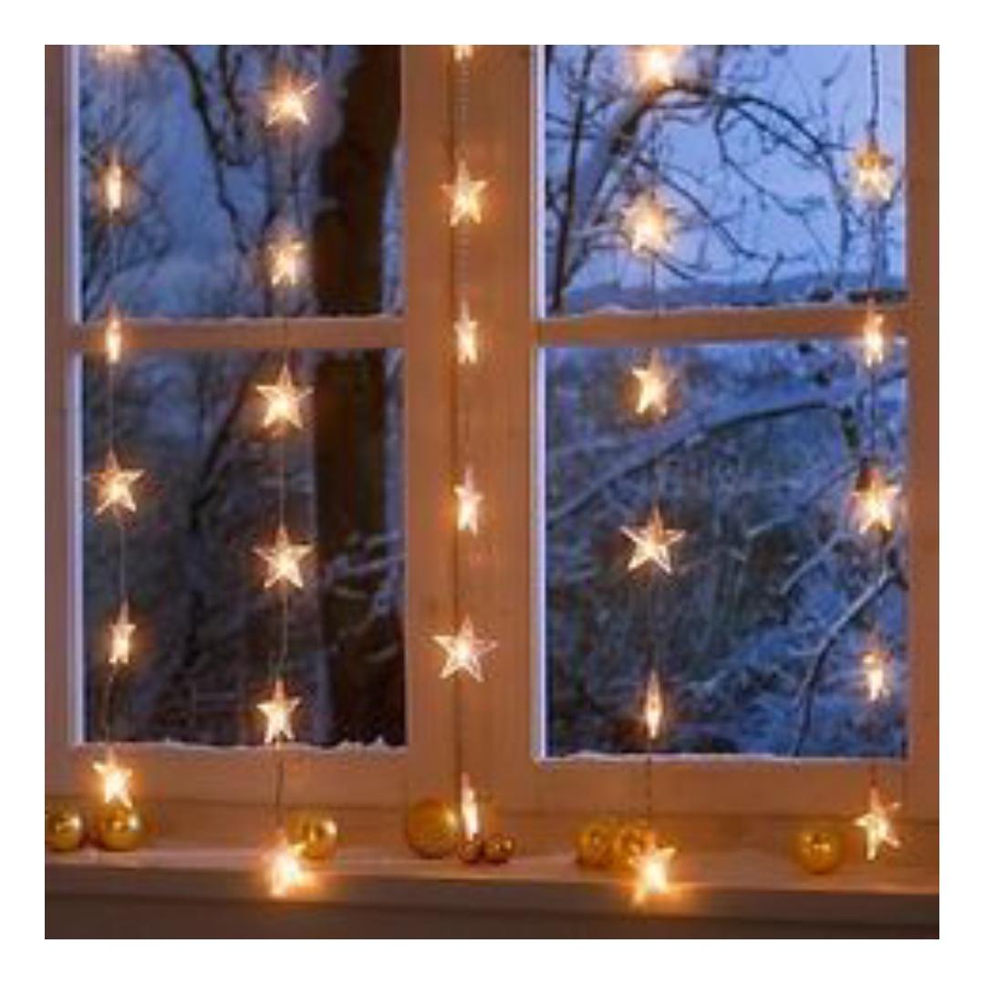 IKEA star curtain lights