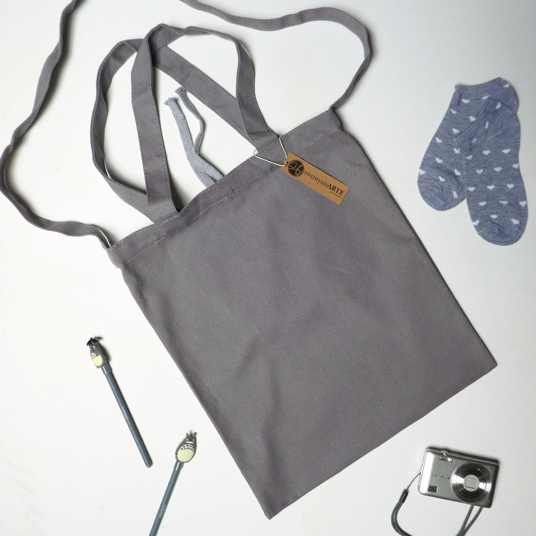 IN-STOCK | ARTE 2-Ways Canvas Tote Bag | Grey
