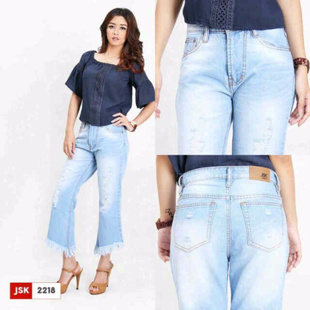 JSK 2220 (27-30) Ripped Flare Jeans Ripped Flare Jeans -