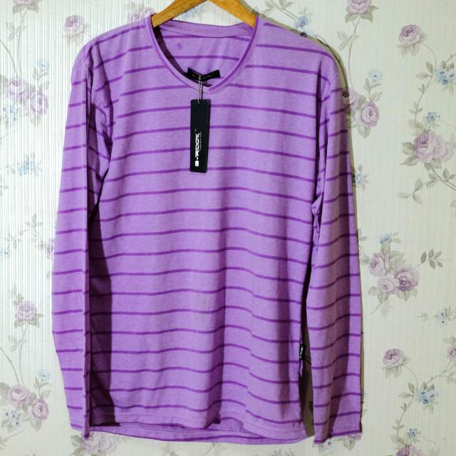 G-Rock purple stripe shirt